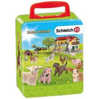 Mallette de rangement 18 animaux de ferme Schleich Farm World