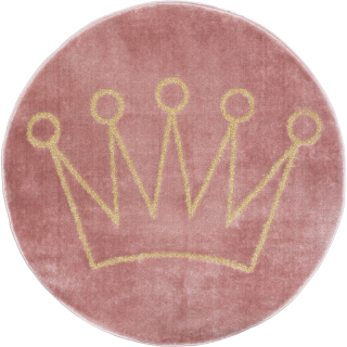 Tapis enfant couronne lurex Rose Atmosphera