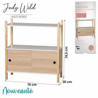 Armoire avec 2 portes coulissantes Judy Wild