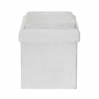 Coffre pouf pliable brique GRIS Home Deco Kids