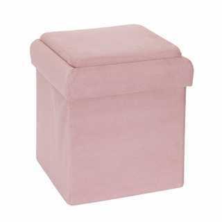 Coffre pouf pliable brique Rose Home Deco Kids