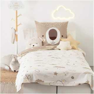 Parure de lit enfant Ours 140x200 Atmosphera