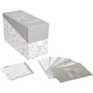 Boîte à Photos avec 20 cartes bébé Gris