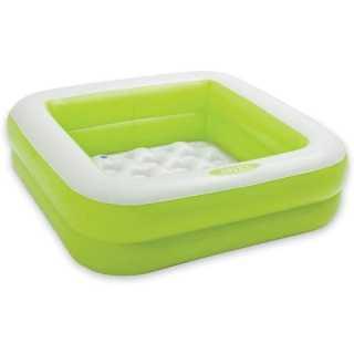 Piscine bébé gonflable carrée Vert Intex
