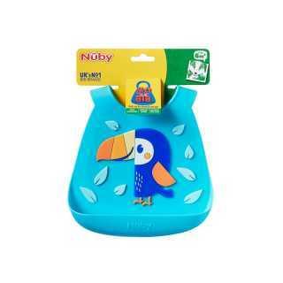 Bavoir en silicone 3D Toucan Nuby