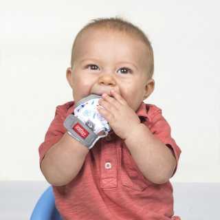 Gant de dentition bébé Ours Gris Nuby