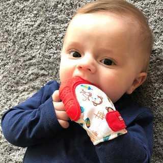Gant de dentition bébé Singe Rouge Nuby