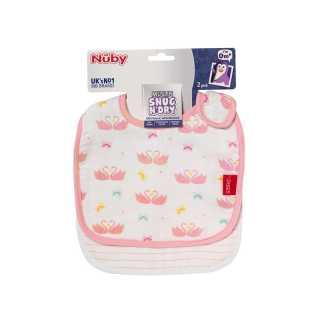 Lot de 2 bavoirs bébé en mousseline Rose Nuby