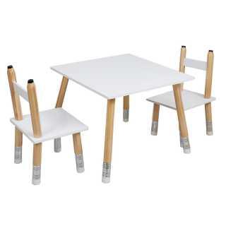Table enfant avec 2 chaises crayon Home Deco Kids