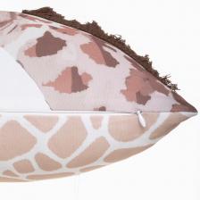 Coussin girafe 39x39 Marron Atmosphera