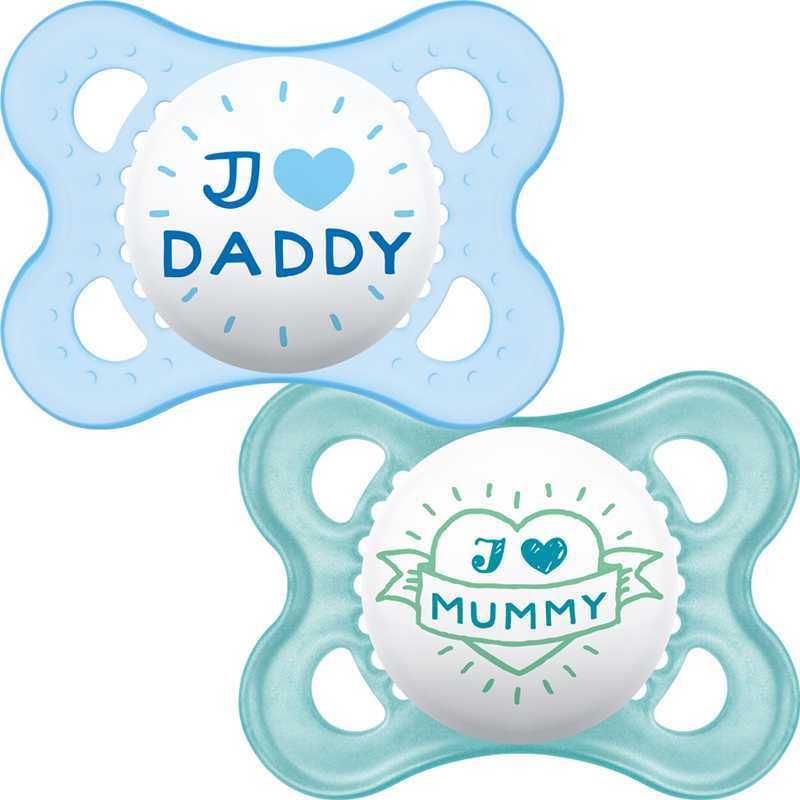 Sucette bébé Style 0m+ Bleu Mam Lot de 2
