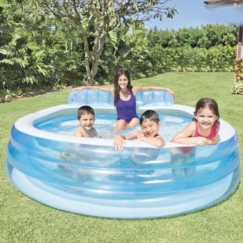 Piscine Gonflable Aqua Lounge 224 x 216 x 76 Cm Intex