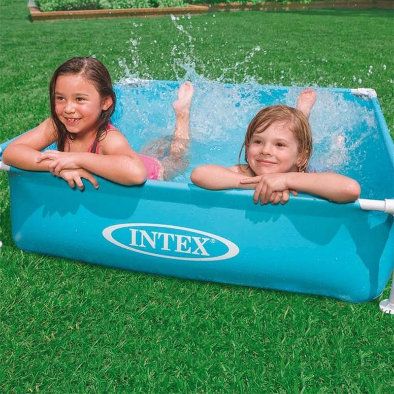Intex - Piscine Mini Cadre Acier Bleu 122 x 122 x 30 cm