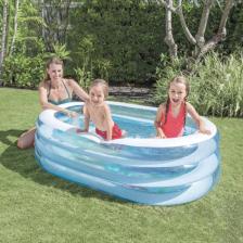 Jeu de Plein Air - Petite piscine ovale baleine - 163X107x46 cm INTEX
