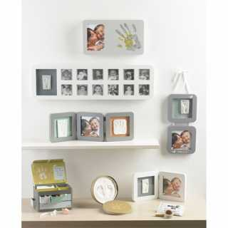 Cadre Photo Modern 1st Year Print Frame Baby Art  Blanc / Gris