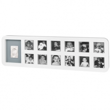 Cadre Photo Modern 1st Year Print Frame Baby Art  Blanc / Gris