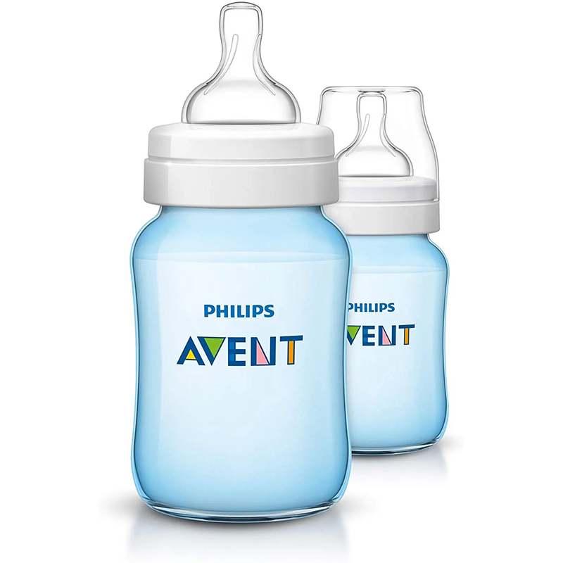 Philips Avent Lot de 2 Biberons Classic 260 ml Bleu 1m+