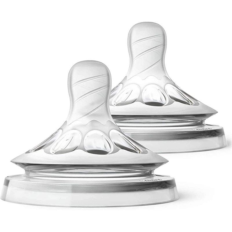 Philips Avent - Tétines Natural 1m+  Débit lent - Lot de 2