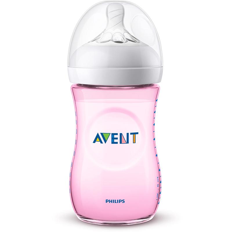 Philips Avent Lot de 2 Biberons Natural 260 ml Rose