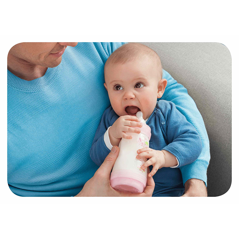 Mam Lot de 3 Biberons 260ml Rose