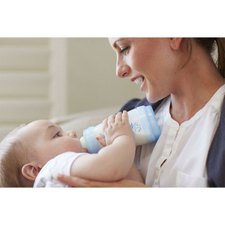Mam Lot de 3 Biberons 260ml Bleu
