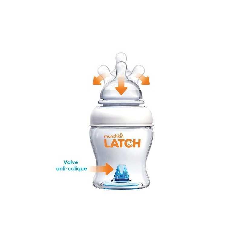 Munchkin Latch Lot de 2 Biberons 240ml