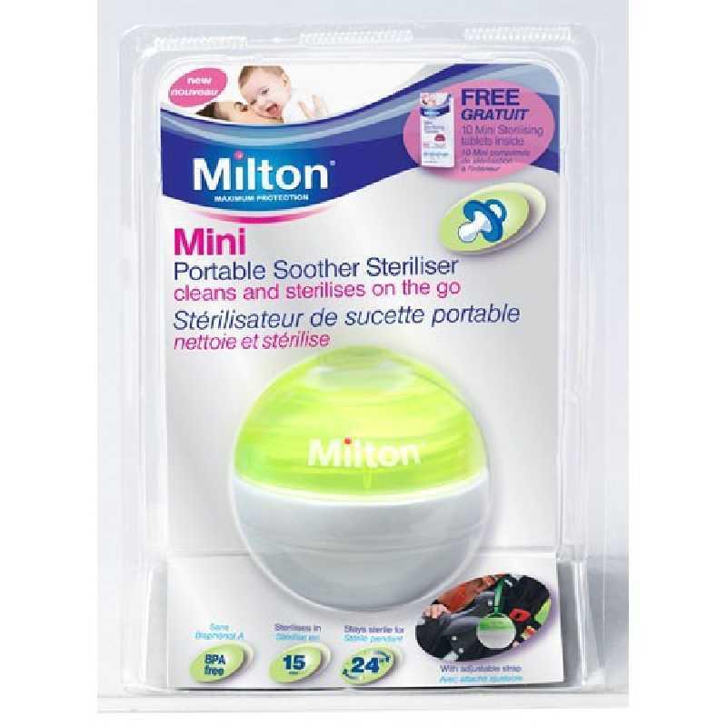 Milton Mini stérilisateur de sucette Vert + 10 mini comprimés