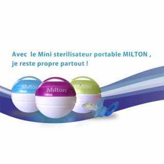 Milton Mini stérilisateur de sucette Bleu + 10 mini comprimés