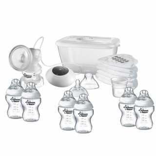 Tommee Tippee Kit Biberon + Tire Lait Electrique Blanc/Transparent