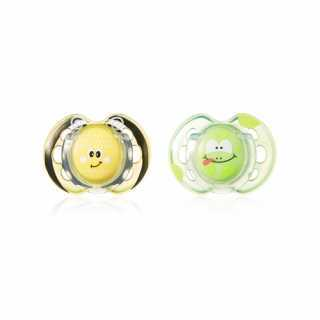 Lots de 2 Sucettes Fun 0-6m Tommee Tippee - Abeille/Grenouille