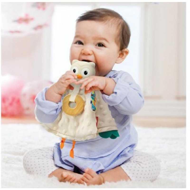 Doudou hibou 2 en 1 Infantino
