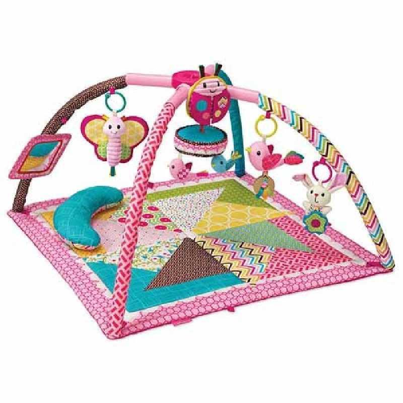 Infantino-Tapis De Jeu Twist & Fold Rose