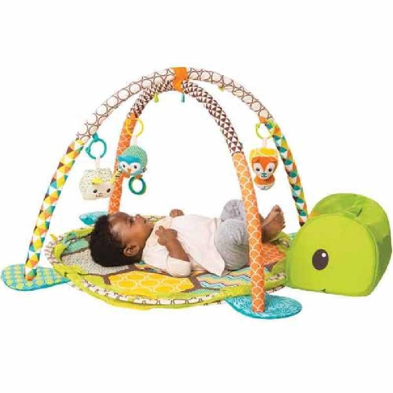 Infantino-Tapis de Jeu Bébé Evolutif 3 en 1 Theme Foret