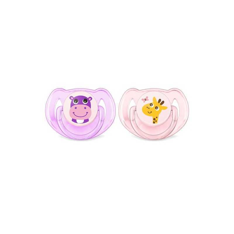 Sucettes Classic Hippo / Girafe Lot 2 Philips Avent 6-18 m