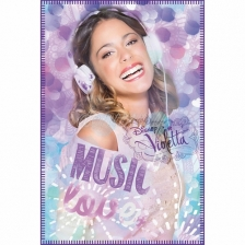 Couverture polaire Plaid Violetta Disney Music Love 120 x 140 cm
