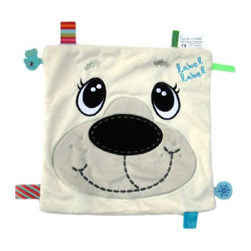 Doudou plat carré ours polaire Friends Label Label