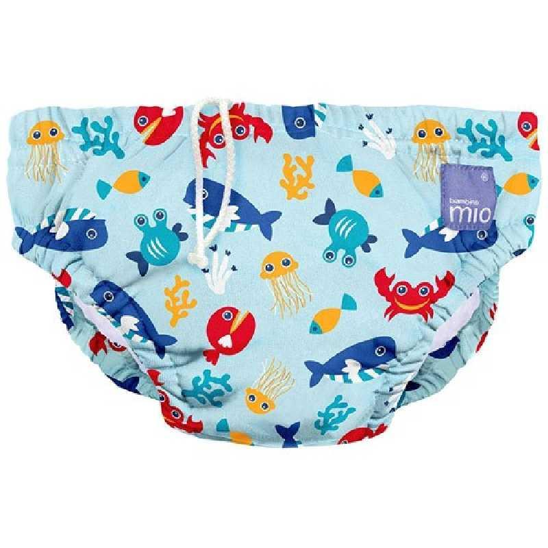 Culotte de Natation - Maillot de bain - Animaux marins - Large (1-2 ans) - Bambino Mio