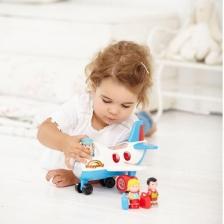 Jouet avion enfant avec figurines Happyland Fly and Go Jumbo