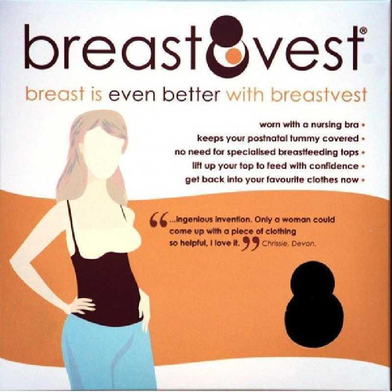 Sous-vêtement d'allaitement Noir BreastVest Taille S / UK10-12 / EUR 38