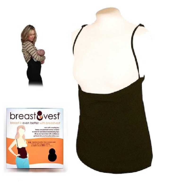 Sous-vêtement d'allaitement Noir BreastVest Taille L / UK 14-16 / EUR 42