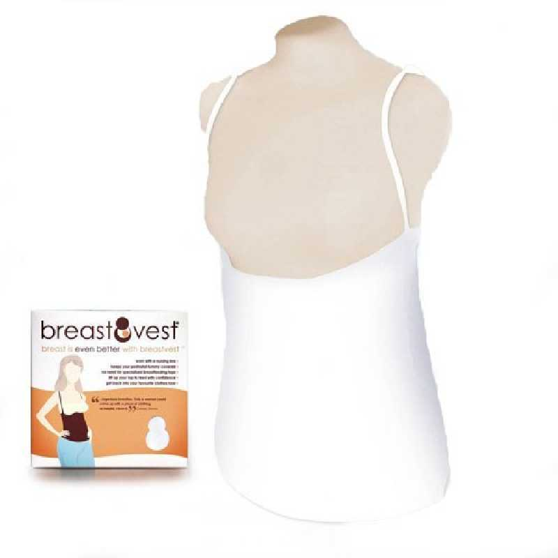 Sous-vêtement d'allaitement Blanc BreastVest Taille L / UK 14-16 / EUR 42