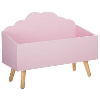 Coffre à jouets en bois Forme Nuage Rose Atmosphera for kids