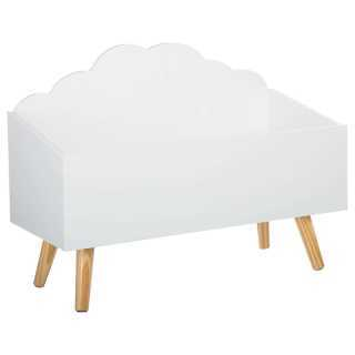 Coffre à jouets en bois Forme Nuage Blanc