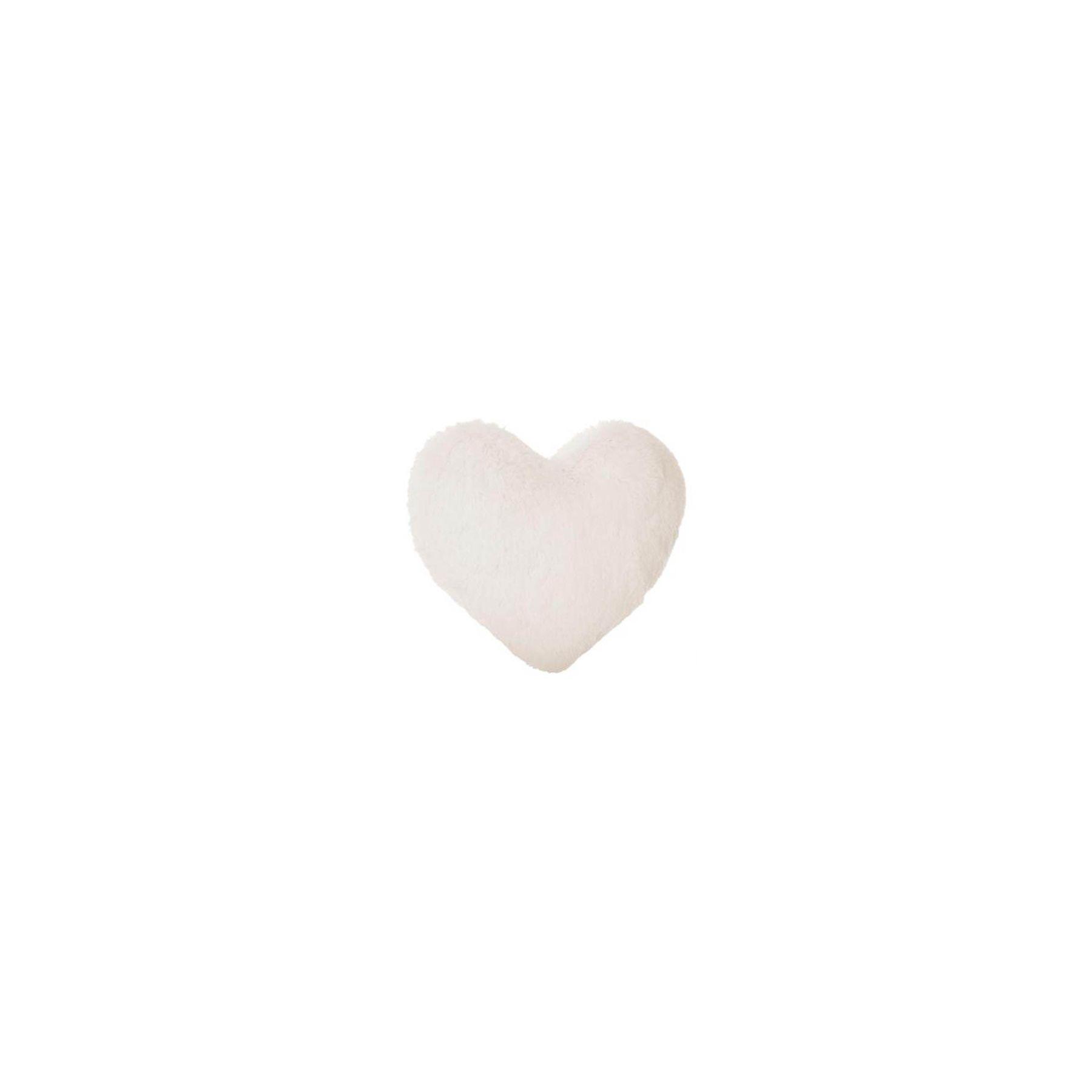Coussin décoratif coeur Atmosphera for kids Blanc