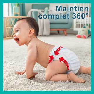 Pampers - Baby Dry Pants - Couches Taille 4 (8-15kg/Maxi) - Pack 1 mois (x160 culottes)