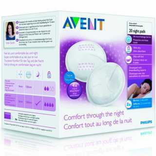 Coussinets d'allaitement nuit Philips Avent Lot de 20
