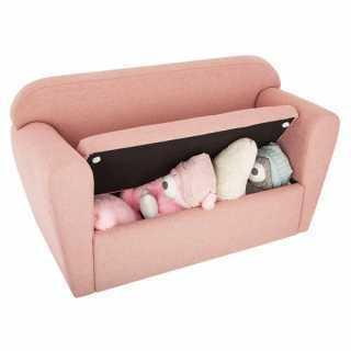 Fauteuil double - coffre à jouets Rose Atmosphera for kids