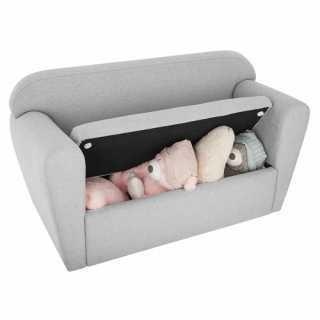 Fauteuil double - coffre à jouets Gris Atmosphera for kids