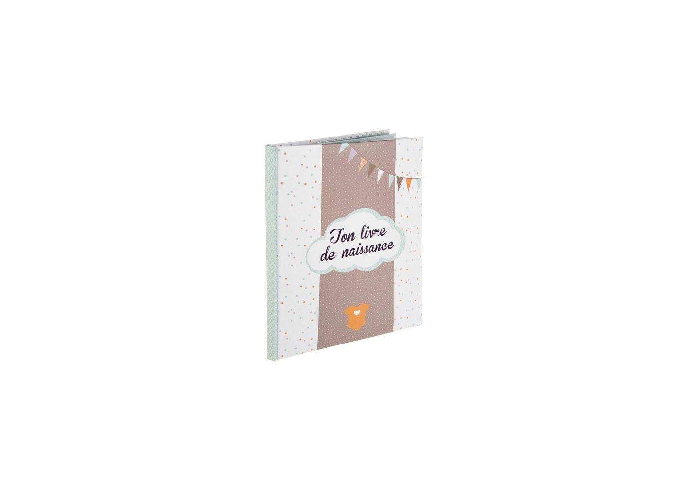 Livre de naissance Atmosphera 56 pages Taupe