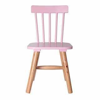 Chaise enfant en bois Rose The Concept Factory
